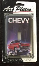 NIP Art Plates CHEVY Switchplate 50's Image Garage Man Cave Decor Official GM