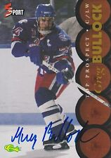 GREG BULLOCK SIGNED CLASSIC 5 SPORT HOCKEY TRADING CARD TOP PROSPECT GENERALS