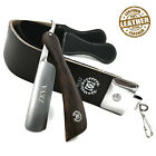 Men's Shave Ready Straight Razor with Leather Sharpening Strop Belt Shaving Set