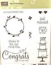 Stampin' Up Your Perfect Day Just Married Wedding Cake Congrats Cheers Mr & Mrs