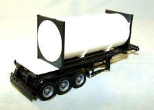 Herpa 365475 Citerne Container Semi-Remorque Noir 1:87