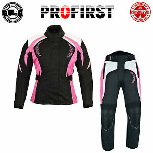 Motorbike Ladies Riding Suit Motorcycle Jacket Trousers Codura CE Approved Suit