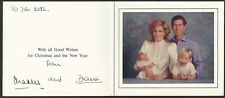 Diana Princess of Wales and Prince Charles 1984 Christmas - New Year signed card