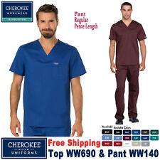 Cherokee Scrubs Set Revolución para hombre cuello en V Top & Pantalón WW690/WW140 Reg/Petite