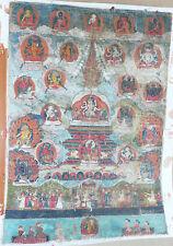 Exceptionnelle très ancienne Thangka Népal 17/18e Antique Tanka Thanka Tangka