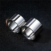 14mm/18mm Wide Silver Band Men's Jewelry 316L Stainless Steel Ring Size 6-14