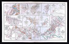 Civil War Map Virginia Harper's Ferry Fisher's Hill Cedar Creek Hotchkiss Calvar