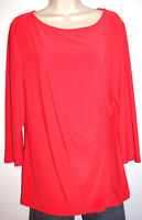 Talbots Women's Beautiful Red 3/4 Sleeve Scoop-Neck Stretch Top Size Large
