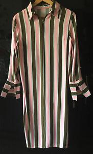 TOPSHOP Striped Dress. Size 8
