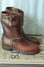 RRL Murdock Engineer Boots Brown Chromexcel Leather 8 Ralph Lauren Made In USA