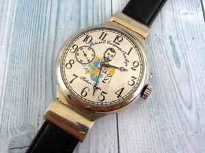 PAVEL BURE Nicolas II Imperator of All Russia Big Antique Swiss Men's Wristwatch