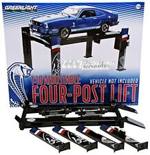 GREENLIGHT 1:18 ADJUSTABLE FOUR-POST LIFT DIE-CAST BLACK 12919
