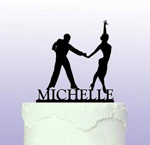 Personalised Latin Dancers Acrylic Cake Topper