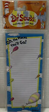 """Geddes Dr Seuss Magnetic List Pad- 40 Sheets- New """"Oh The Places You'll Go�"""