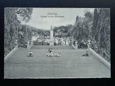 More details for gibraltar general eliot's monument & children - old rp postcard by v.b. cumbo