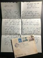1942 Egypt Postal Treaty Airmail Censored Cover To Columbus OH USA Letter