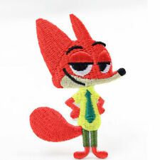 Movie cartoon Zootopia Nick Wilde Fox Embroidered Iron On/Sew On Patch