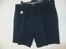 BRAND NEW EX CHAINSTORE MEN'S COTTON  STRETCHY SHORTS NAVY UK40