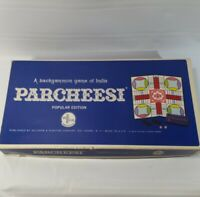 Vintage Parcheesi Board Game 1964 Popular Edition Backgammon SelRight USA
