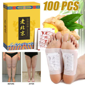 100X Fusspflaster Entgiftung Ginger Foot Pads Vitalpflaster Entschlackung Detox