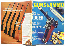 Vintage Magazine GUNS & AMMO March 1969 Luger 45 automatic Stop Flinching