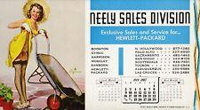 ELVGREN - may 1965  art  illustrated   PIN-UP/CHEESECAKE   model   INK   blotter
