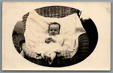 Postcard RPPC Cass County IA c1919 Baby In Chair Photo Helen Genese Pitsenberger