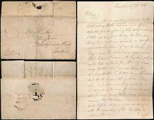 GB 1820 PERSONAL LETTER CHARLES SHIELDS BRISTOL