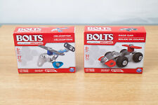 Meccano Bolts Race Car and Helicopter