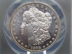 "1878 ""CC"" Morgan Silver Dollar $1 ANACS MS62 PL ""PROOF LIKE"" ECC&C, Inc."