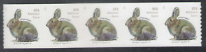 US. 2021 New Issue. (20c). Brush Rabbit. Coil Strip of 5. Mint. NH. 2021