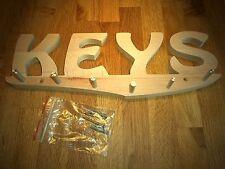 Schlüsselbrett Schlüsselboard Schlüsselleiste  Buche-Hartholz  Typ KEYS