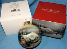 Sears Thomas Kinkade Limited Edition 2011 Christmas Holiday Glass Ornament