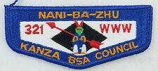 OA Lodge 321 Nani-Ba-Zhu S5b Flap MVE; PB; ROR WWW & 321   [MS633]