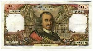 100 francs CORNEILLE   Q 887