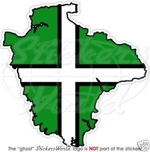 """DEVON County Map-Flag England UK Britain 4"""" (100mm) Vinyl Bumper Sticker, Decal"""