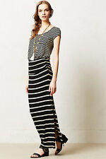 NIP Anthropologie Stripescope Maxi Dress by Everleigh Made In USA 5 stars Size L