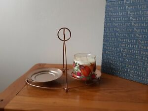 Partylite Copper Mix & Mingle Double Jar Stand Brand New In Box
