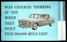 Prospekt brochure 1961 Checker Marathon (Estados Unidos)