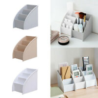 Plastic Trapezoid Desk Organizer Pen Phone Cosmetic Storage Box Holder Durable
