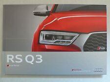 Prospekt Audi  RS Q3, 11.2014, Hardcoverbuch 68 Seiten