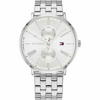 Tommy Hilfiger Jenna Multi-function Ladies Analog Business Silver Band 1782068