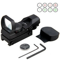 Green & Red Dot Reflex Sight Holographic Scope Tactical Rifle Mount 20mm Rails