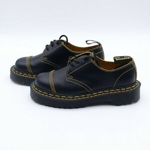 Size 6 Women's Dr. Martens 1461 Bex DS Platform Oxford Shoes Black/Yellow Smooth