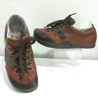 Kalso Earth Bowling Shoes Ziggy Brown Leather Negative Heel Technology Womens 6