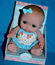 """NEW My Sweet Love Lil Cutesies 8.5"""" Vinyl Baby Doll Blue Outfit And Hair Bow"""