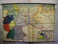 Schulwandkarte Wandkarte map Karte Deutschland Ostgebiete c.1962 228x159 Polen