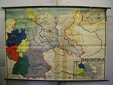 Schulwandkarte Wall Map Map Card Germany Ostgebiete C.1962 228x159 Poland