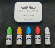 Mohawk Beard Oil Set. 5 x 10ml Beard Oil. 5 Different Flavours plus Gift Tin