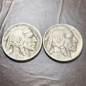 1927 D & 1927 S - 5C Buffalo Nickels - Lot of 2 Coins